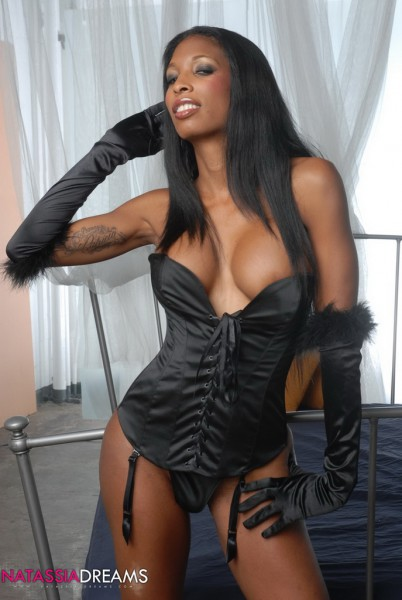 ts natassia dreams in black corset